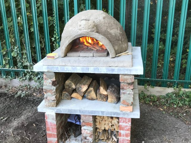 pizza oven outside